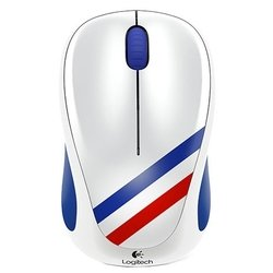 logitech wireless mouse m235 910-004032 blue-white-red usb