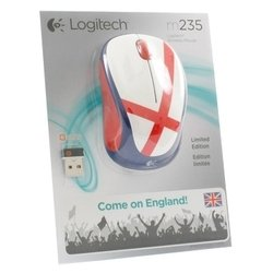 logitech wireless mouse m235 910-004030 white-blue-red usb