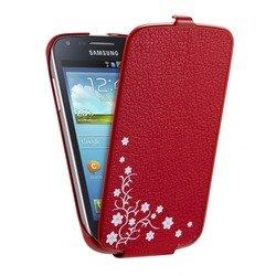 Чехол-флип для Samsung Galaxy Core I826x (Anymode Cradle F-DICC000RRD) (красный)