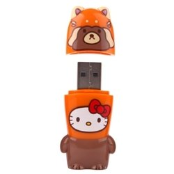 mimoco mimobot hello kitty loves animals - raccoon 8gb