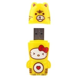 mimoco mimobot hello kitty loves animals - tiger 32gb
