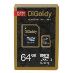 digoldy microsdxc class 10 uhs-i 64gb + sd adapter