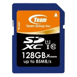 team group xtreem sdxc class 10 uhs-1 85mb/s 128gb