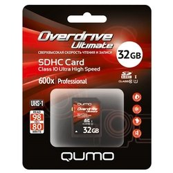 qumo overdrive ultimate sdhc class 10 uhs-i u1 32gb