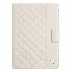 Чехол-книжка для Apple iPad Air (Belkin Quilted Cover F7N073B2C01) (белый)