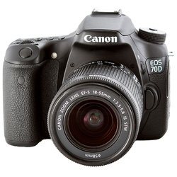 Canon EOS 70D Kit (black 20Mpx EF-S 18-55mm 3 1080p SD Li-Ion, ����� � ����������)