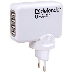 Универсальное сетевое зарядное устройство 4xUSB (DEFENDER UPA-04)