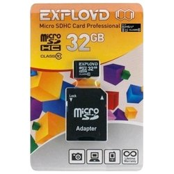 exployd microsdhc class 10 uhs-i u1 80mb/s 32gb + sd adapter