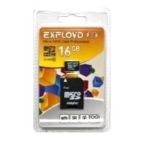 EXPLOYD microSDHC Class 10 UHS-I U1 30MB/s 16GB + SD adapter