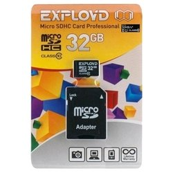 exployd microsdhc class 10 uhs-i u1 30mb/s 32gb + sd adapter