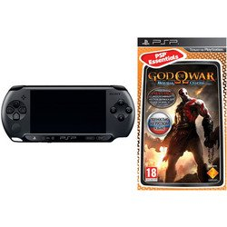 sony playstation portable psp e1008 + god of war: ghost of sparta
