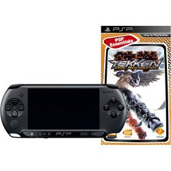 sony playstation portable psp e1008 + tekken: dark resurrection