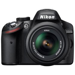 ��������� nikon d3200 kit (black 24.2mpix 18-55vr + 55-300mm f/4.5-5.6g vr af-s dx  3 1080p sd, ����� � ���������� en-el14)