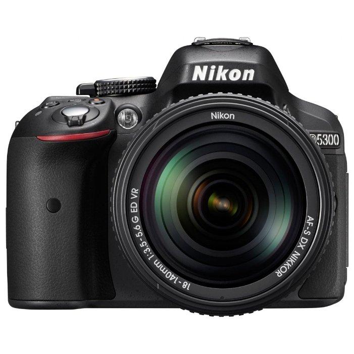 Nikon D5300 Kit (black 24.2Mpix 18-140VR 3 1080p SD, Набор с объективом) - Фотоаппарат цифровой