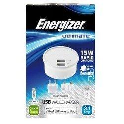 Сетевое зарядное устройство для Apple iPhone, Apple iPad, Apple iPod (Energizer AC2UUNUIP5)