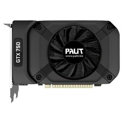 Palit GeForce GTX 750 1085Mhz PCI-E 3.0 1024Mb 5100Mhz 128 bit DVI Mini-HDMI HDCP