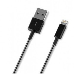 Дата-кабель Lightning - USB для Apple iPhone 5, 5C, 5S, 6, 6 plus, iPad 4, Air, Air 2, mini 1, mini 2, mini 3 (Deppa 72127) (черный)