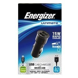 ������������� �������� ���������� 2 USB + ������ micro USB (Energizer DC2UUMC2)