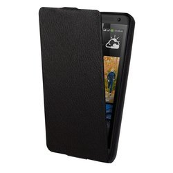 чехол-флип для htc one max (lazarr protective case slim) (черный)