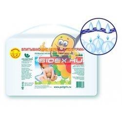 Пеленки впитывающие с суперабсорбентом 60х60 см (Пелигрин Д6060С) (30шт)