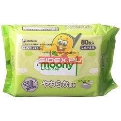 Детские влажные салфетки (Moony 4903111-181339) (запасной блок 80 шт)