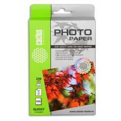 Фотобумага глянцевая 10х15 (100 листов) (Cactus CS-GA6230100)