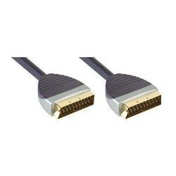 Кабель SCART (m) - SCART (m) 3 м (Bandridge SVL7393) (черный)