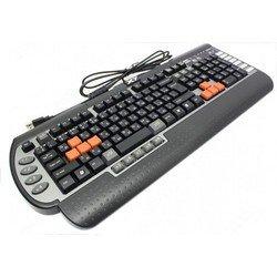Клавиатура A4 G800V 3x Fast Gaming USB (черный/серый)