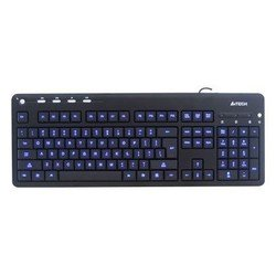 ���������� A4Tech KD-126-1 X-Slim LED blue BlackLight Keyboard USB (������ � ����� ����������)