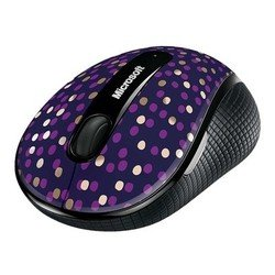 мышь microsoft wireless mobile mouse 4000 eggplant dot wireless mobile usb mac/win (d5d-00116)