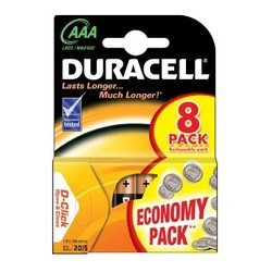 Алкалиновая батарейка AAA (Duracell LR03-8BL Basic) (8 шт)