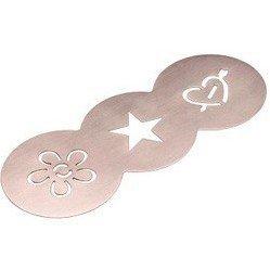 Трафареты для декорации молочной пенки кофе 3 шт. (Xavax 00111109) (сталь)