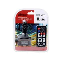 Автомобильный FM-модулятор (Ritmix FMT-A760) (черный)