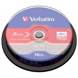Диск BD-RE Verbatim 25Gb Cake Box (10шт) (43694)