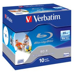 Диск BD-R Verbatim 25Gb 6x Jewel Case (10шт) (43713)