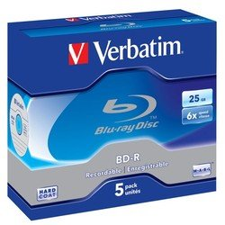 Диск BD-R Verbatim 25Gb 6x Jewel Case (5шт) (43715)