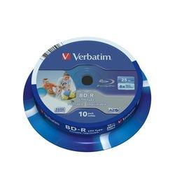 Диск BD-R Verbatim 25Gb 6x Cake box 10шт (43751)