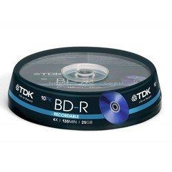 Диск BD-R TDK 25Gb 4x Cake Box (10 шт) (t78088)