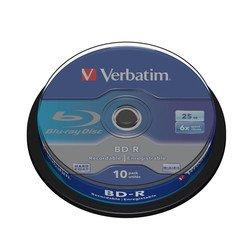 ���� BD-R SL Verbatim 25Gb 6x Cake Box (10��) (43742)