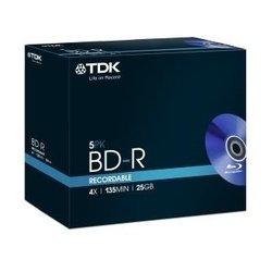 Диск BD-R TDK 25Gb 4x Jewell case (5 шт) (t78008)