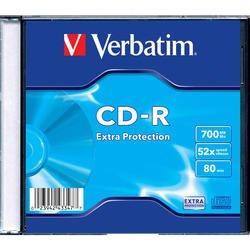 Диск CD-R Verbatim 700Mb 52x DataLife Slim (1шт) (43347)