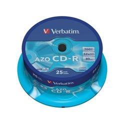 Диск CD-R Verbatim 700Mb 52x Cake Box (25 шт) (43352)