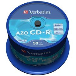 Диск CD-R Verbatim 700Mb 52x Cake Box (50 шт) (43343)
