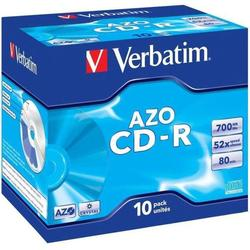 ���� CD-R Verbatim 700Mb 52x Jewel Case (10 ��) (43327)