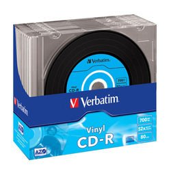 Диск CD-R Verbatim 700Mb 52x DataLife+Slim Vynil (10 шт) (43426)
