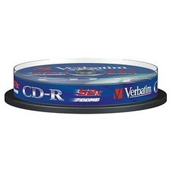 Диск CD-R Verbatim 700Mb 52x DataLife Cake Box (10 шт) (43437)
