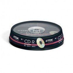 Диск CD-R TDK 700Mb 52x Cake Box (10 шт) (T19539)