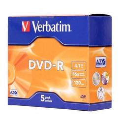 ���� DVD-R Verbatim 4.7Gb 16x Jewel Case (5 ��) (43519)