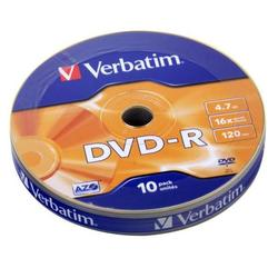 ���� DVD-R Verbatim 4.7Gb 16x AZO Matt silver (10 ��) (43729)