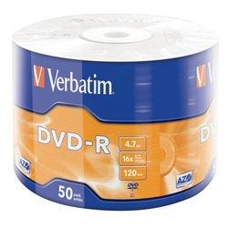 ���� DVD-R Verbatim 4.7Gb 16x (50��) (43788)